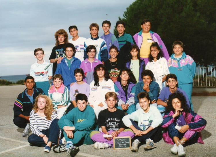 Photo de classe 3 me b de 1991 coll ge fr d ric mistral copains d 39 avant - College frederic mistral port de bouc ...