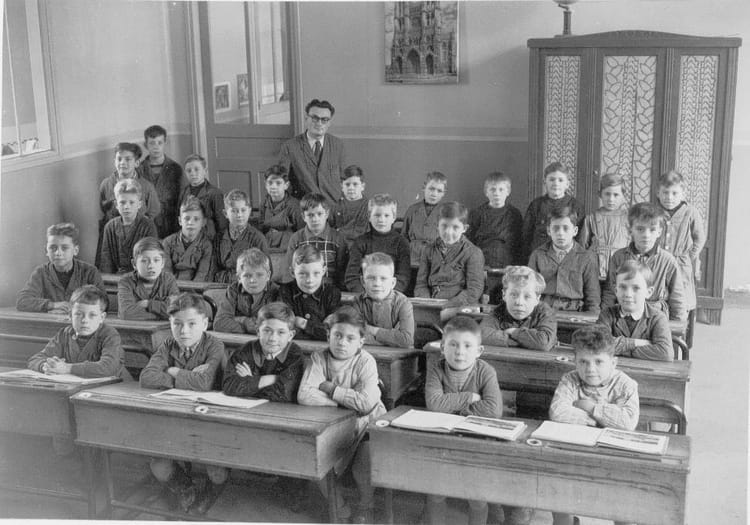 Photo de classe cm ann e scolaire 1952 1953 de 1952 - Garage anatole france villeneuve saint georges ...