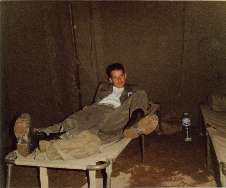 moi à biscarrose 1988 - 57E REGIMENT D ARTILLERIE