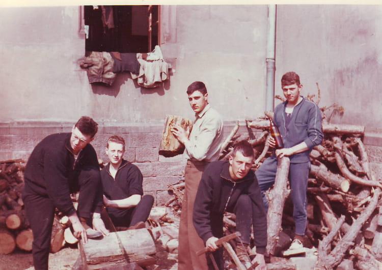 corvée de bois bitche 1964 - 1ER R.I.M.