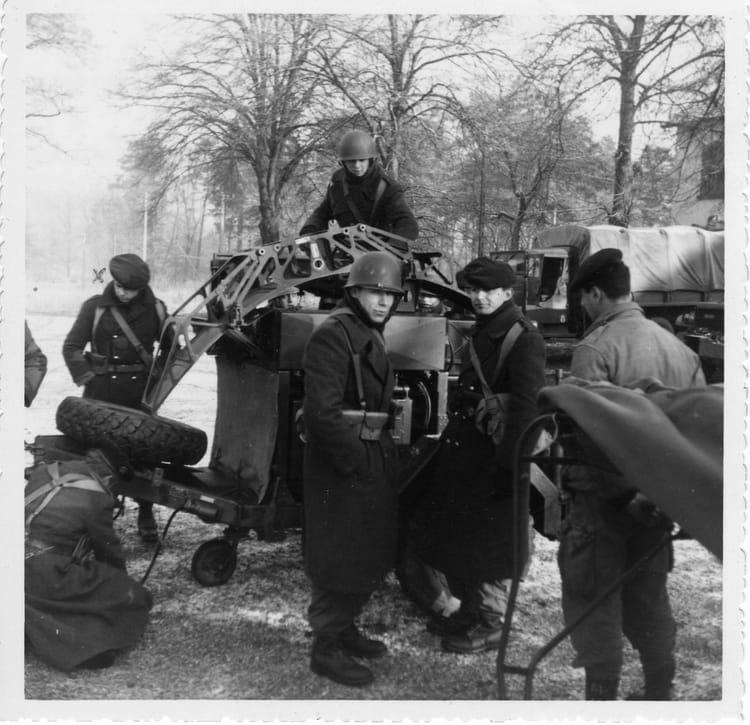 66-2B en manoeuvre à Bitche décembre 1966 1966 - 6È GROUPE DE REPERAGE