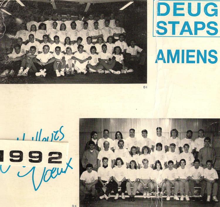 Photo de classe STAPS 1991 1992 1991, UNIVERSITÉ PICARDIE-JULES-VERNE ...