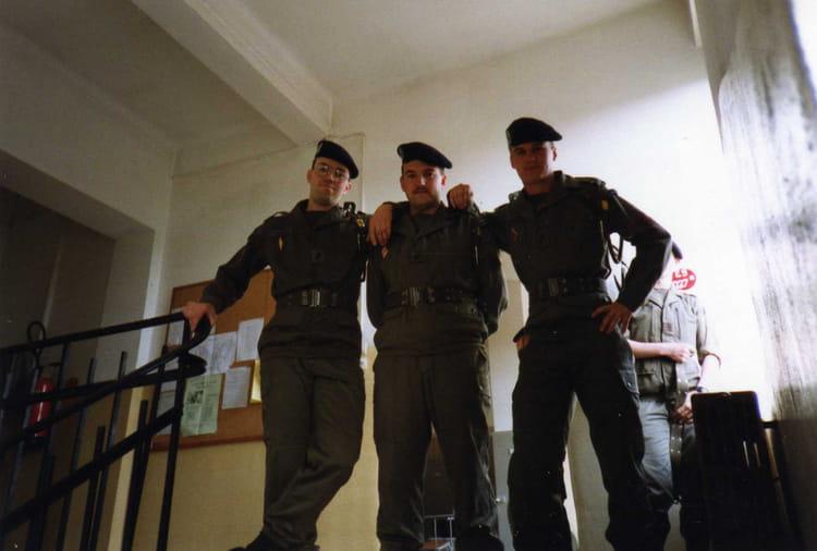 4ème RC Bitche peloton transmission 1993 - 4EME CUIRASSIERS