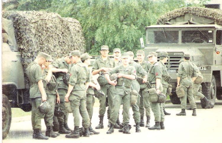 Début de manoeuvre du TC2 1990 - 57E REGIMENT D ARTILLERIE
