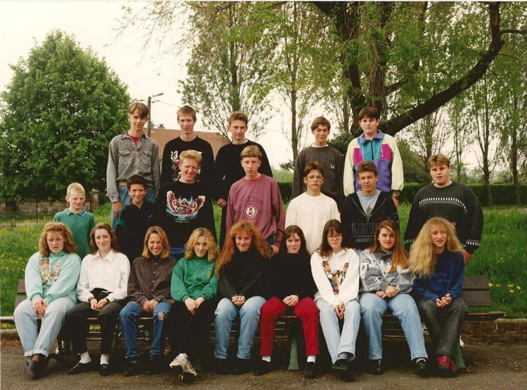 Photo de classe 4 me c 1992 1993 de 1992 coll ge val de for College rosemont piscine