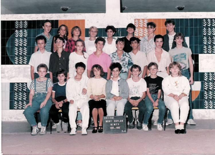 photo de classe 3e4 de 1986 coll 232 ge mont duplan copains
