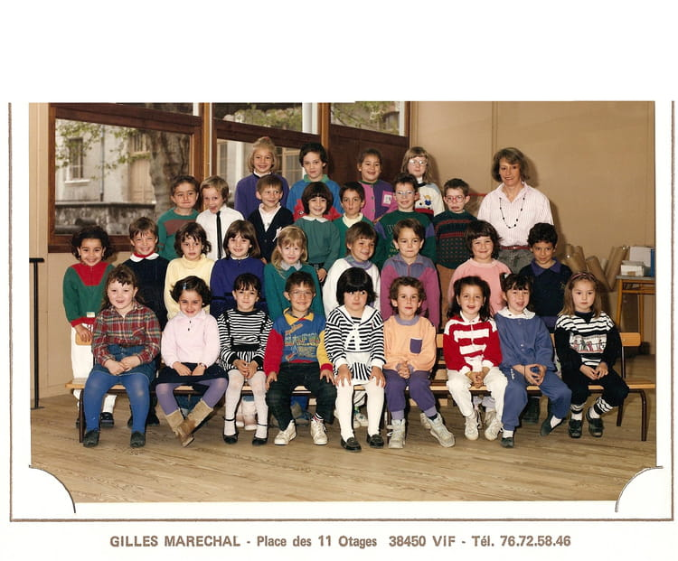 ... ANNEE MATERNELLE ANCIENNE ECOLE DERRIER MAIRIE 1989 - ECOLE MARIE SAC