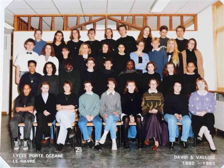 photo de classe 2nde3 de 1992 lyc 233 e porte oc 233 ane copains d avant