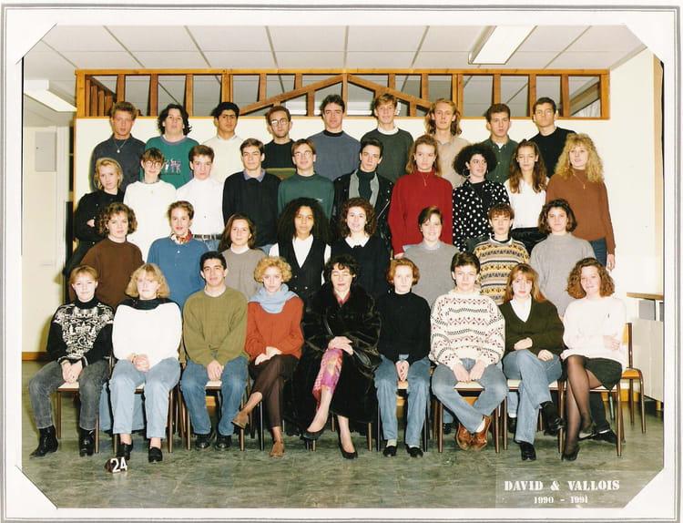 photo de classe 1ere b de 1990 lyc 233 e porte oc 233 ane copains d avant