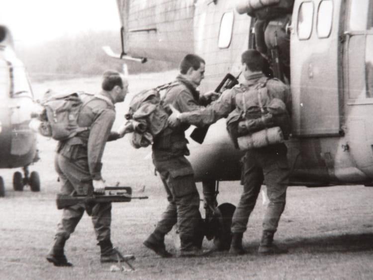 1980 - manoeuvre héliportée 1362962
