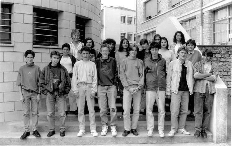 Photo de classe 3 mec 1989 1990 de 1989 coll ge du jardin des plantes copains d 39 avant - College du jardin des plantes poitiers ...