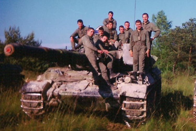 manoeuvre à mourmelon 1995 1995 - 4EME CUIRASSIERS