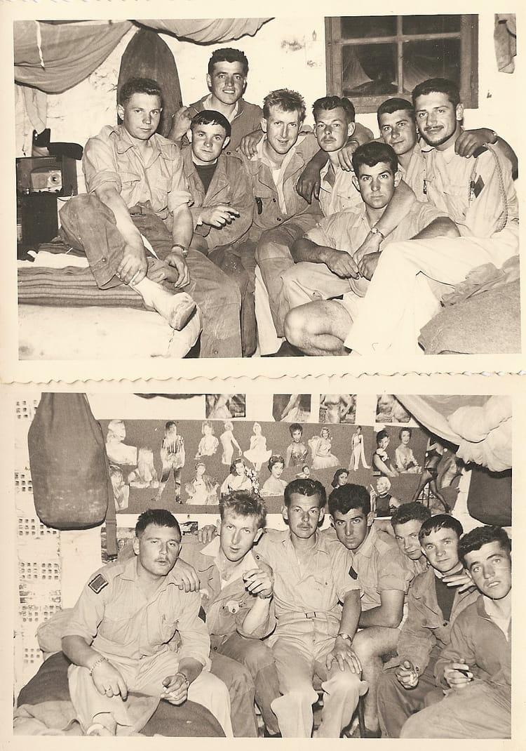 1er RIM COPINS DE CHAMBRE FERME PRADEL (TREZEL) ALGERIE 1961 - 1ER R.I.M.