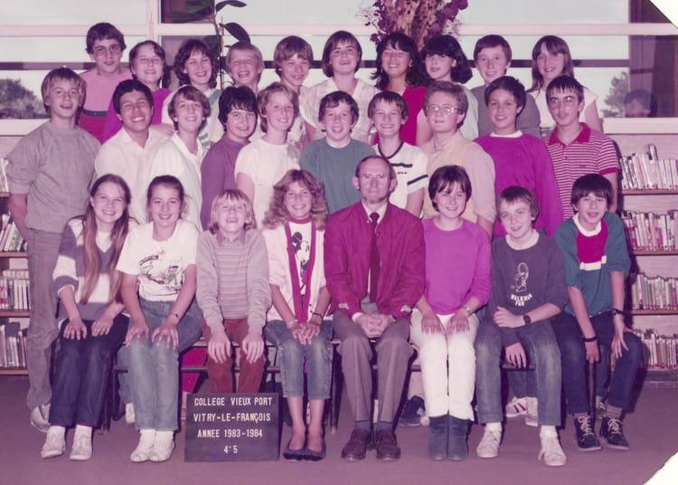 Photo de classe 4e5 de 1984 coll ge vieux port copains - College vieux port vitry le francois ...
