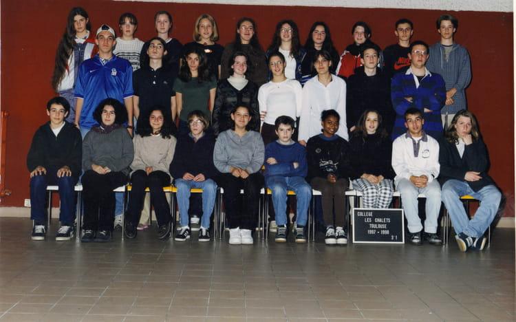 photo de classe 3 176 1 de 1997 coll 232 ge les chalets copains d avant