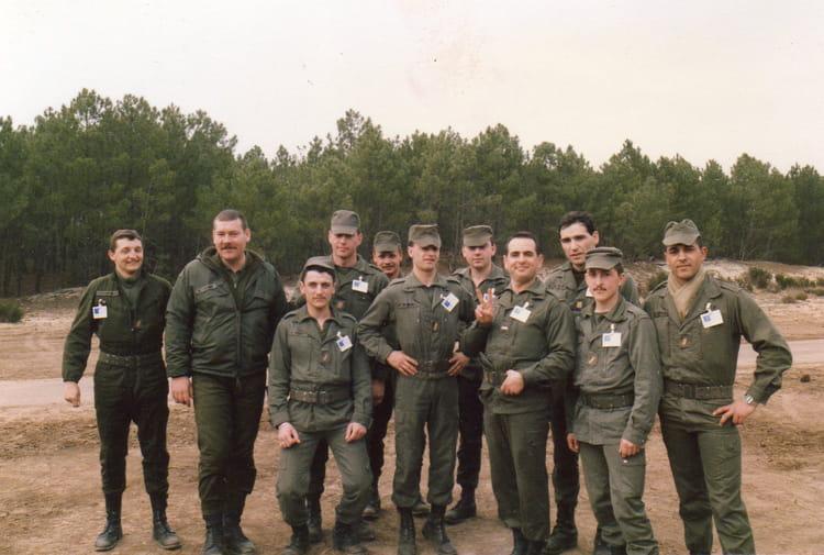les gradés de la B4 1987 - 57E REGIMENT D ARTILLERIE