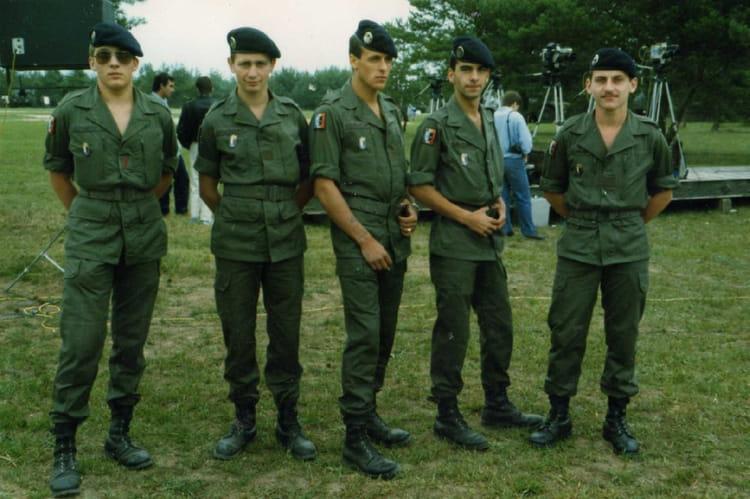 l'équipe de choc au camp de suipes 1986 - 4EME CUIRASSIERS