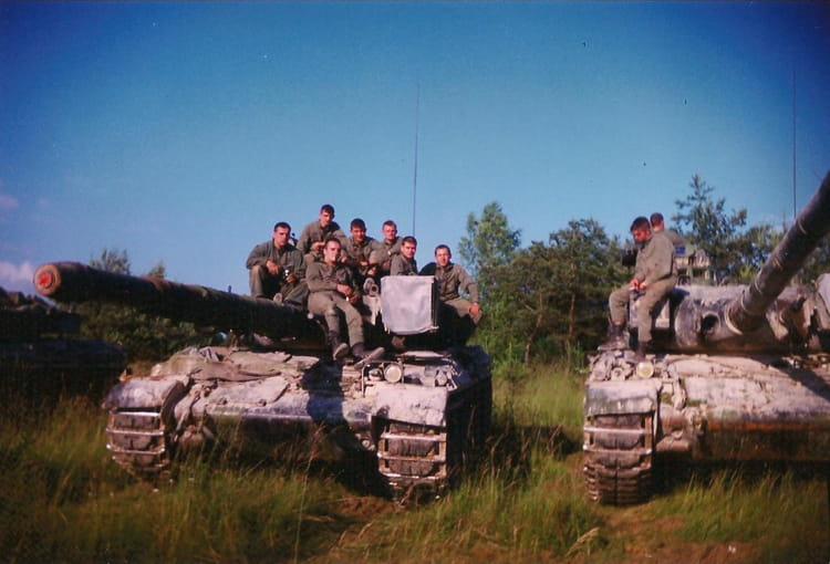 manoueuvre à mourmelon 1995 - 4EME CUIRASSIERS