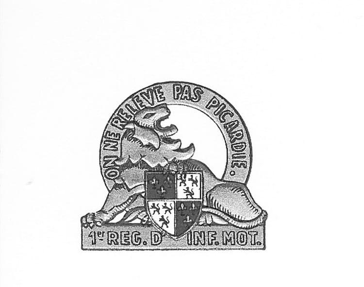 Emblème du 1er RIM 1965 - 1ER R.I.M.