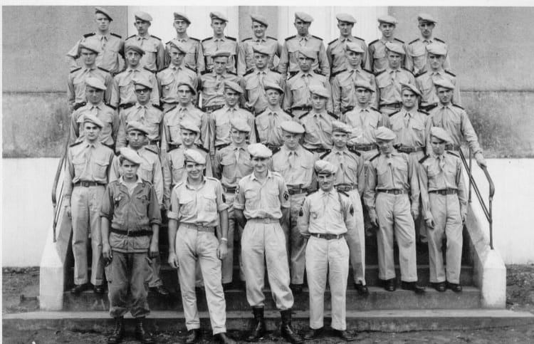 Les classes à SARRALBE 1964 - 1ER R.I.M.