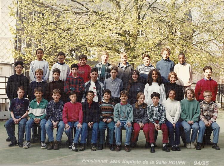 photo de classe 5e a de 1995 coll 232 ge jean baptiste de la salle copains d avant