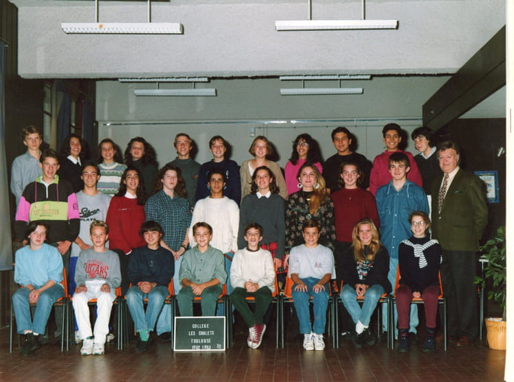 photo de classe 3e2 de 1993 coll 232 ge les chalets copains d avant