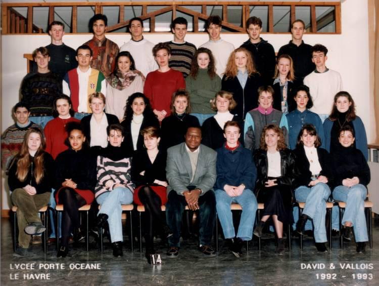 photo de classe lyc 233 e porte oceane de 1992 lyc 233 e porte oc 233 ane copains d avant