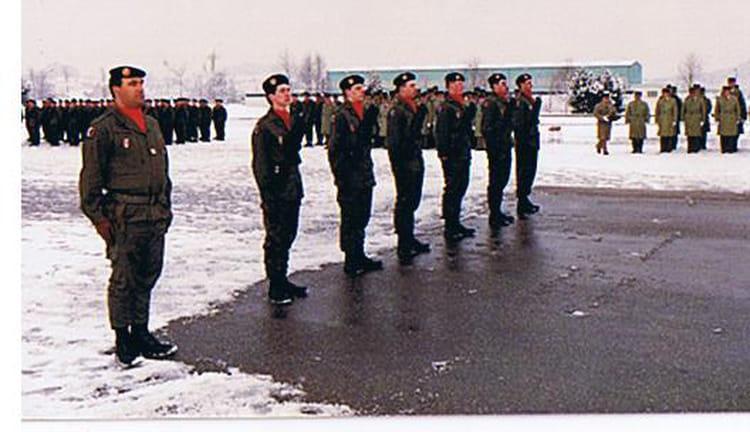 remise de fourragére 1987 - 57E REGIMENT D ARTILLERIE