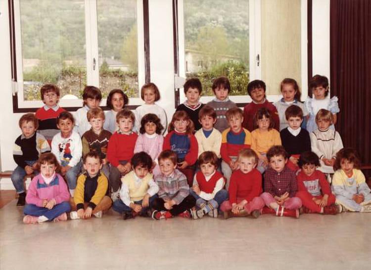 1ère année d'école maternelle , Photo de classe de 1984