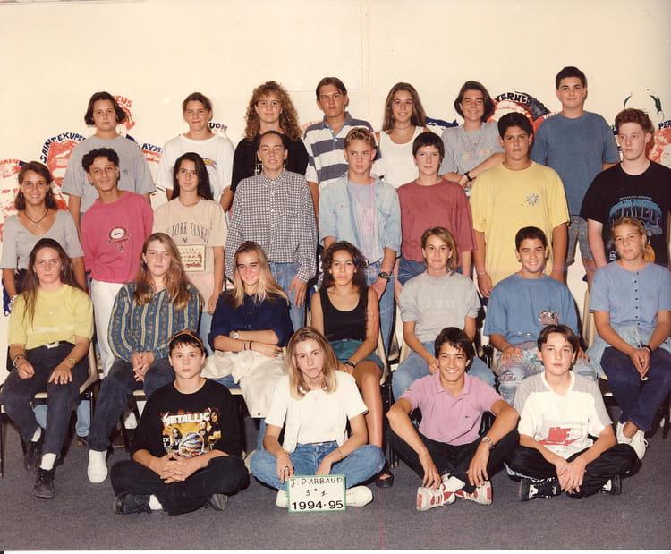 Photo de classe 3 me 1 de 1994 coll ge joseph d 39 arbaud - College joseph d arbaud salon de provence ...