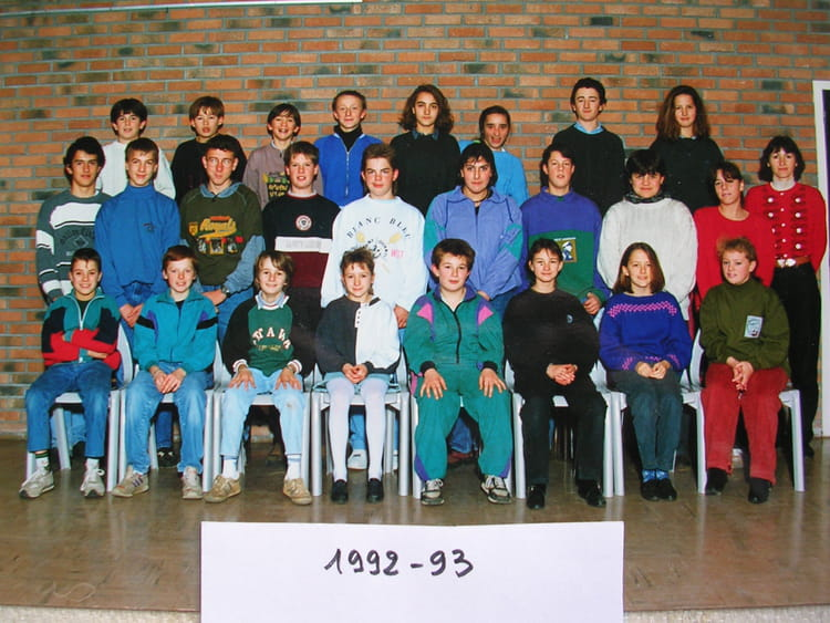 photo de classe 5ev clg villon fauville en caux de 1992. Black Bedroom Furniture Sets. Home Design Ideas